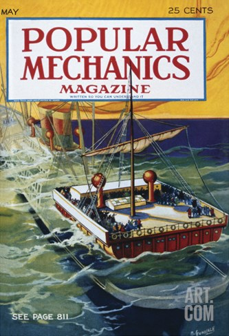 Popular Mechanics, May Stretched Canvas Print