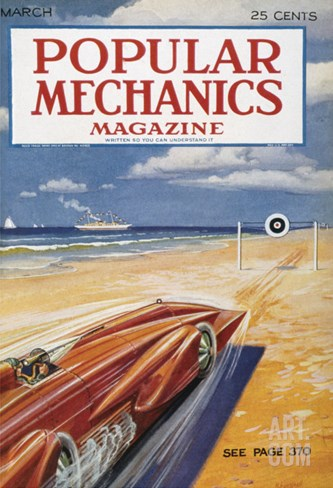 Popular Mechanics, March Stretched Canvas Print