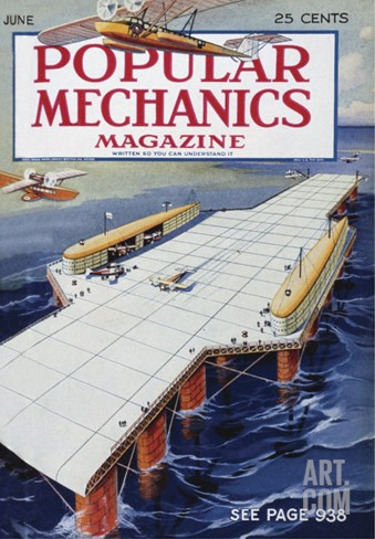 Popular Mechanics, June Stretched Canvas Print