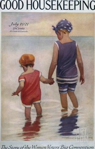 Good Housekeeping, July, 1921 Stretched Canvas Print