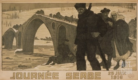 Journee Serbe. 25 Juin 1916 Stretched Canvas Print