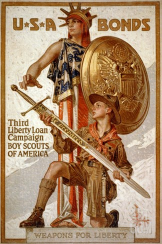U*S*A Bonds, Third Liberty Loan Campaign, Boy Scouts of America Weapons for Liberty Stretched Canvas Print