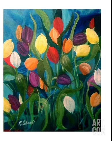 Tulips Galore! Stretched Canvas Print