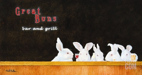 Great Buns B & G Stretched Canvas Print