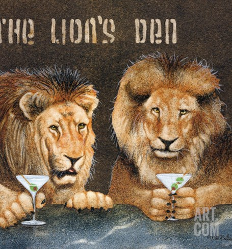 Lions Den Stretched Canvas Print