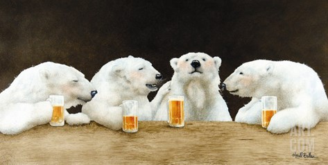 Polar Beers Stretched Canvas Print