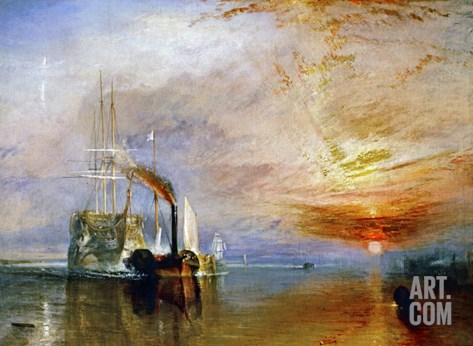 The Temeraire Towed to Her Last Berth (AKA The Fighting Temraire) Stretched Canvas Print