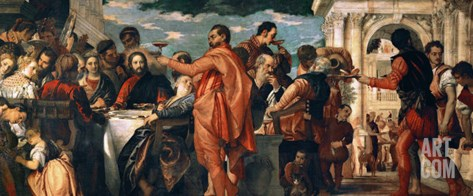 The Wedding at Cana (With Veronese's Self-Portrait) Stretched Canvas Print
