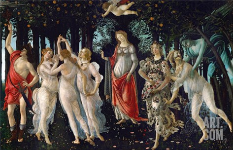 La Primavera (Spring), 1477 Stretched Canvas Print