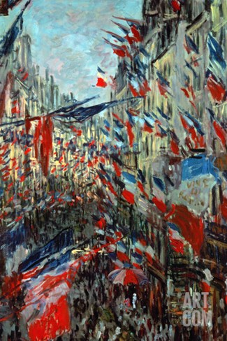 Paris, Rue St. Denis: Celebration of June 30, 1878 Stretched Canvas Print