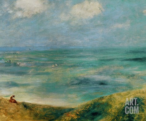 Seashore at Guernsey, 1883 Stretched Canvas Print