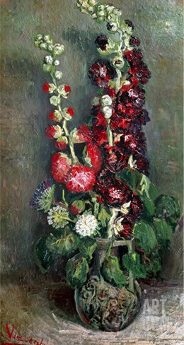 Bouquet of Flowers, c.1886 Stretched Canvas Print