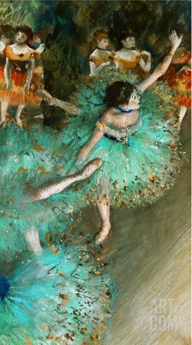 Green Dancer, circa 1880 Stretched Canvas Print