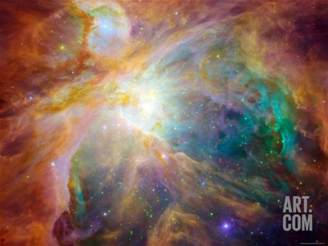 Orion Nebula Stretched Canvas Print
