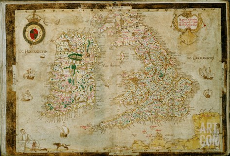 A General Description of England and Ireland, 1564 Stretched Canvas Print