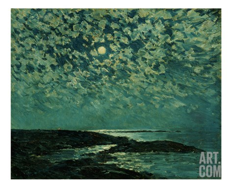 Moonlight, Isle of Shoals, 1892 Stretched Canvas Print