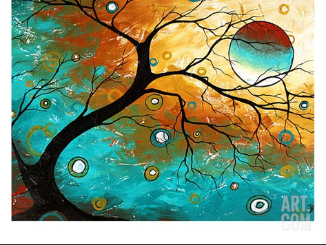 Many Moons Ago Stretched Canvas Print