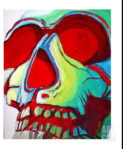 Skull Stretched Canvas Print