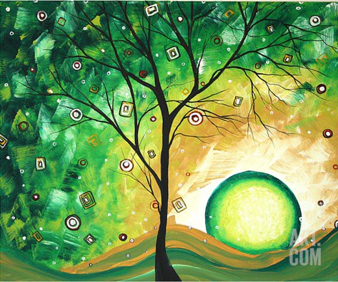 Barren Green Stretched Canvas Print