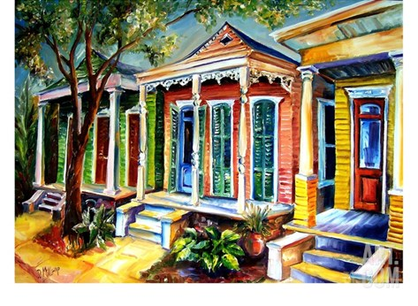 New Orleans, Plain & Fancy Stretched Canvas Print