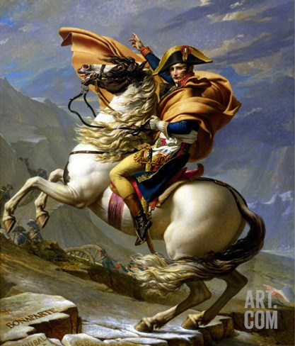 Napoleon Crossing the Alps, c.1800 Stretched Canvas Print