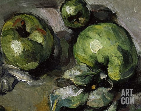 Green Apples, c.1873 Stretched Canvas Print