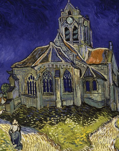 The Church in Auvers-Sur-Oise, c.1890 Stretched Canvas Print