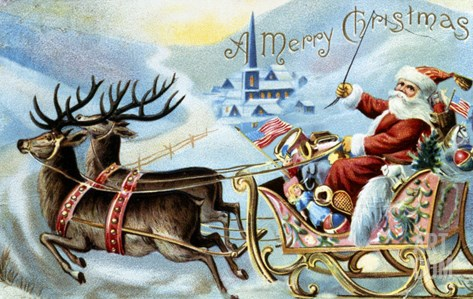 Merry Christmas! Stretched Canvas Print
