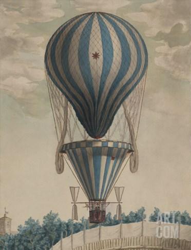 Elevazione Aereobatica Eseguita da Francesco Orlandi in Bologna, c.1828 Stretched Canvas Print