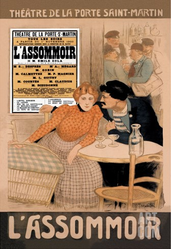L'Assommoir, c.1900 Stretched Canvas Print