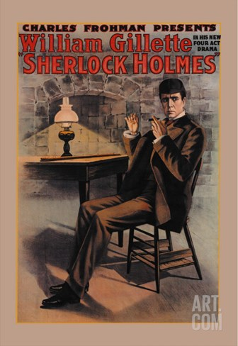 William Gillette as Sherlock Holmes Stretched Canvas Print