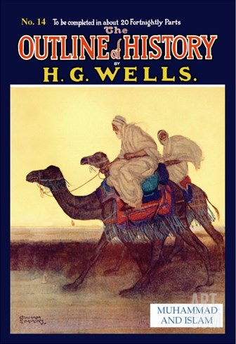 Outline of History by H.G. Wells, No. 14: Muhammad and Islam Stretched Canvas Print