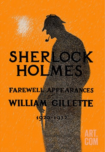 William Gillette as Sherlock Holmes: Farewell Appearance Stretched Canvas Print