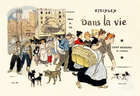 Dans la Vie, c.1900 Stretched Canvas Print