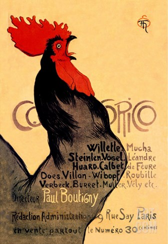 Cocorico, c.1899 Stretched Canvas Print