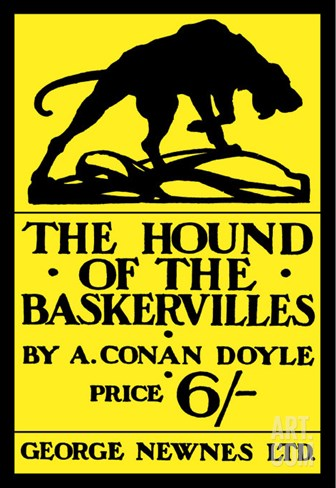 The Hound of the Baskervilles IV Stretched Canvas Print