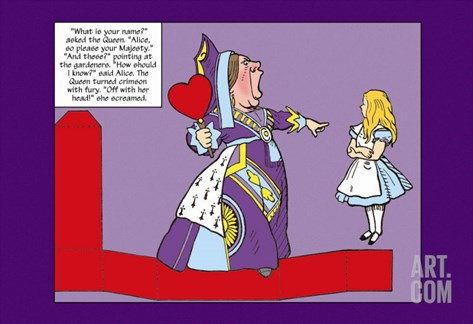 Alice in Wonderland: The Queen of Hearts Stretched Canvas Print