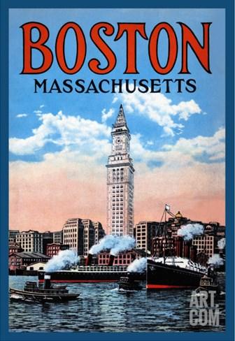 Boston Massachusetts Stretched Canvas Print