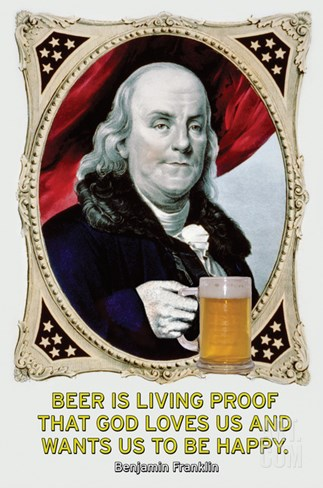 Beer Is Living Proof… Stretched Canvas Print