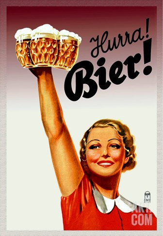 Harra! Bier! Stretched Canvas Print