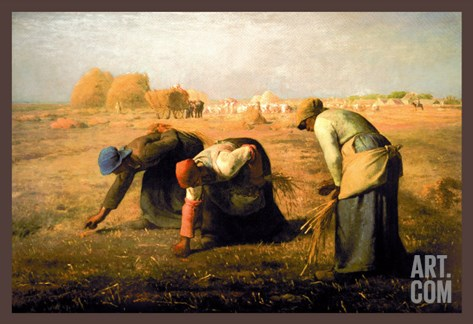 The Gleaners Stretched Canvas Print