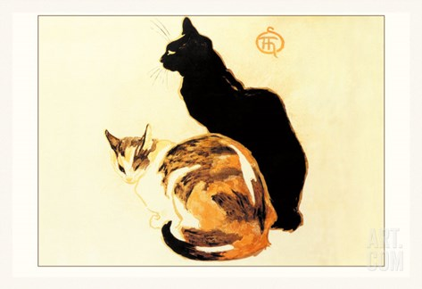 Les Chats Stretched Canvas Print