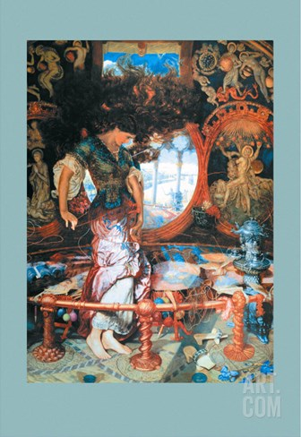 The Lady of Shalott Stretched Canvas Print