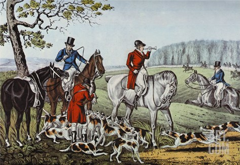 Fox Hunt Stretched Canvas Print