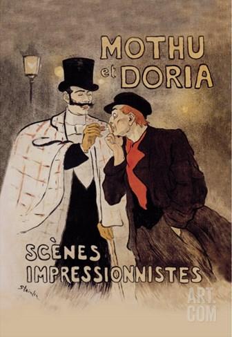 Mothu et Doria Stretched Canvas Print