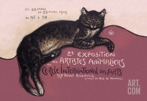 Exposition des Artistes Animaliers Stretched Canvas Print