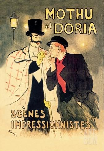 Mothu et Doria: Scenes Impressionnistes Stretched Canvas Print