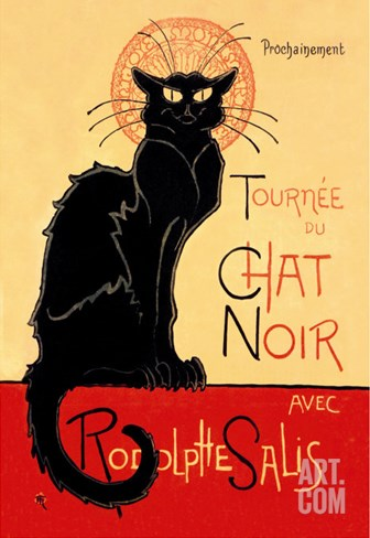 Tournee du Chat Noir Avec Rodolptte Salis Stretched Canvas Print