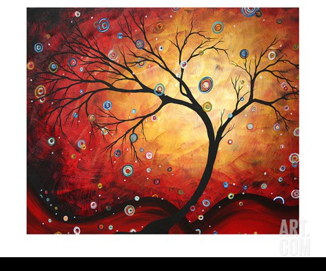 Red Halo Stretched Canvas Print