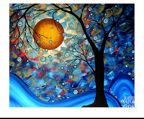 Blue Essence Stretched Canvas Print